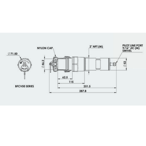 Banlaw Overfill Protection FillSafe Zero - Flow Control Valve 2""