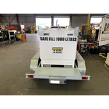 FUEL TRAILER 1000L Self Bunded Galvanised Dual Axle SBSD1000 Rear View