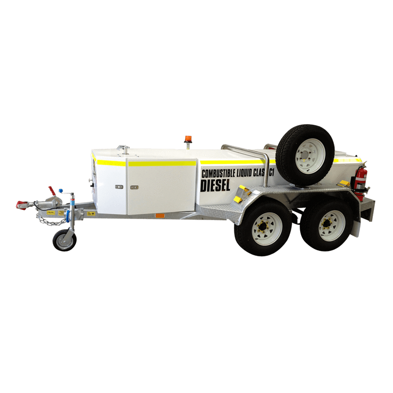 FUEL TRAILER 1250L Self Bunded Low Profile Galvanised Dual Axle fitted with optional Mining Upgrade Kit