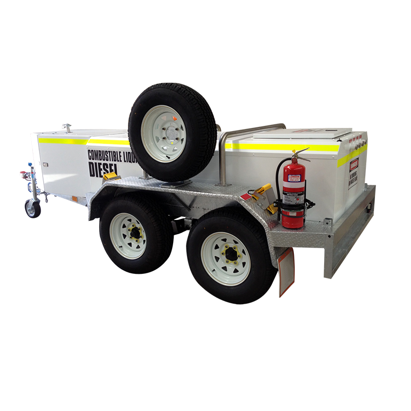 FUEL TRAILER 1250L Self Bunded Low Profile Galvanised Dual Axle