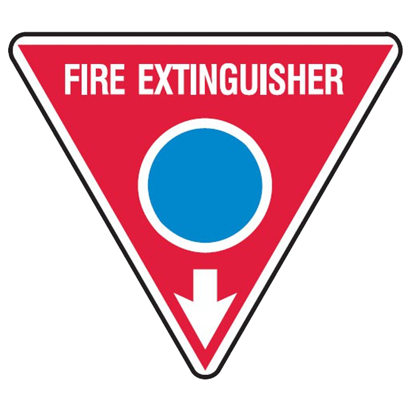 Brady Fire Marker / Disc Signs - Fire Extinguisher Arr/D - Dry Powder