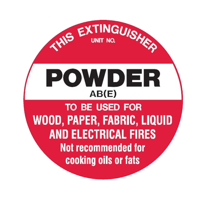 Brady Fire Marker / Disc Signs - This Extinguisher Powder