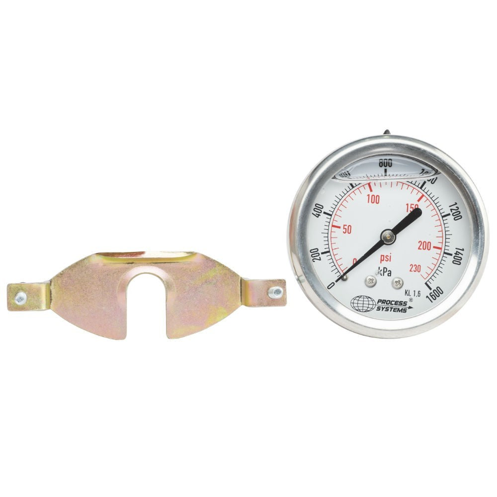 "GO Pressure Gauge 63mm 1/4"" BSP Rear Entry 304 SS Case GAU63R Range"