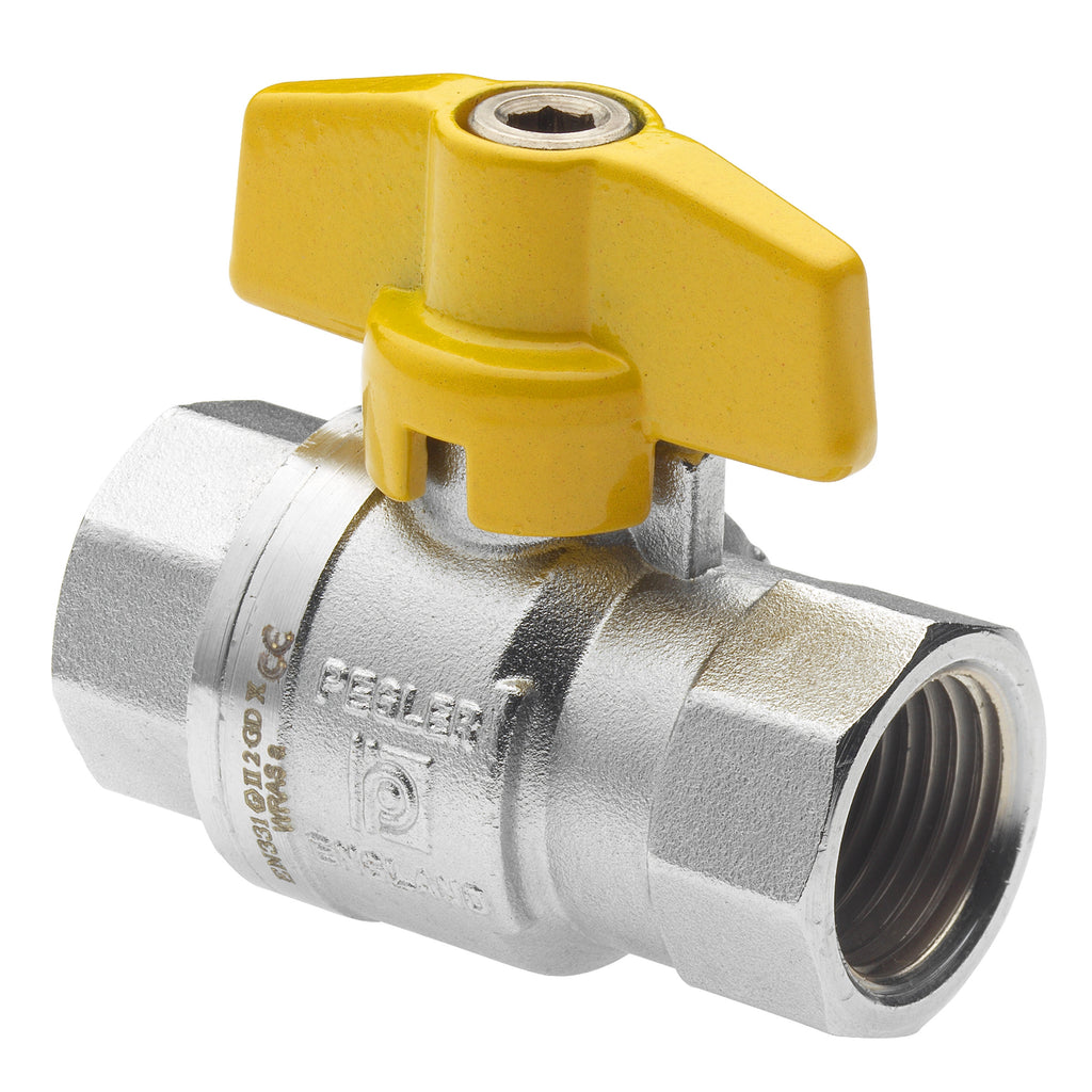 GO Brass Ball Valve Range T Handle Scr BSP FF Thread Gas Approved