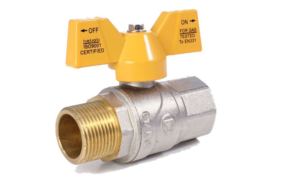 GO Brass Ball Valve Range T Handle Scr BSP Gas Approved