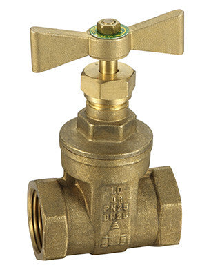 GO Brass DR Watermark Approved Gate Valve Range T Lever A59M Scr BSP