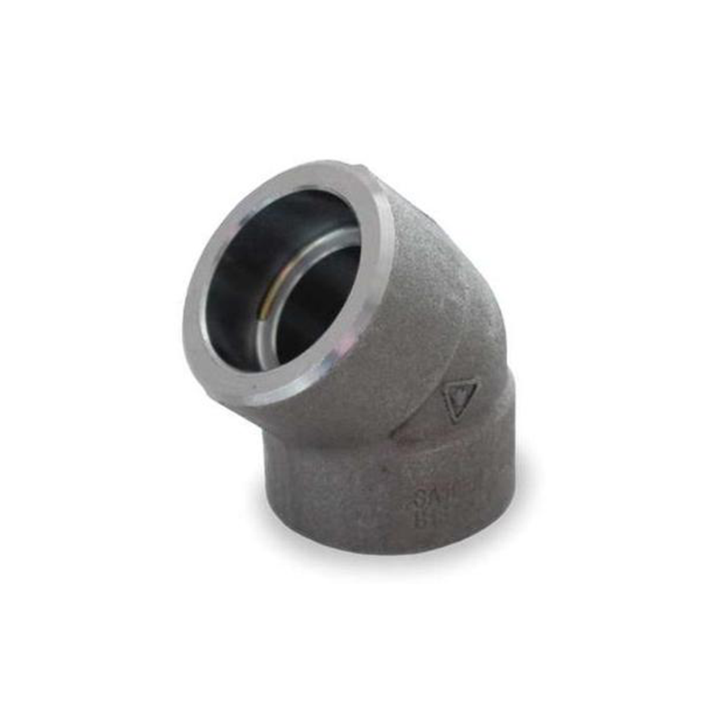 GO Carbon Steel Elbow 45 Deg 3000lb Socket Weld A105 ASME B16.11