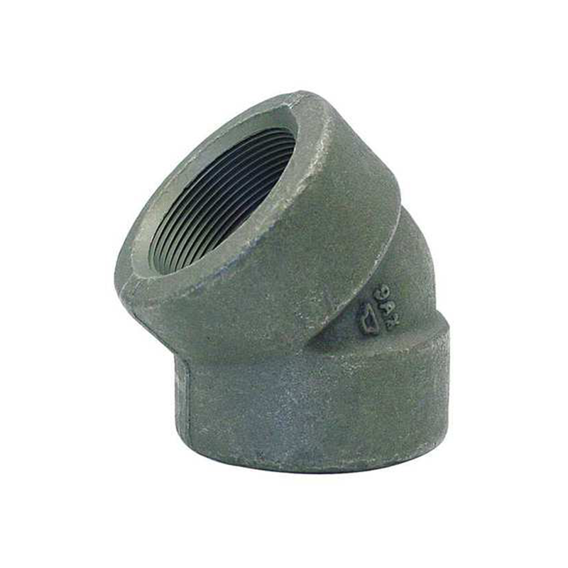 GO Carbon Steel or Galvanised Elbow 45 Deg 3000lb Scr NPT or BSP A105 ASME B16.11