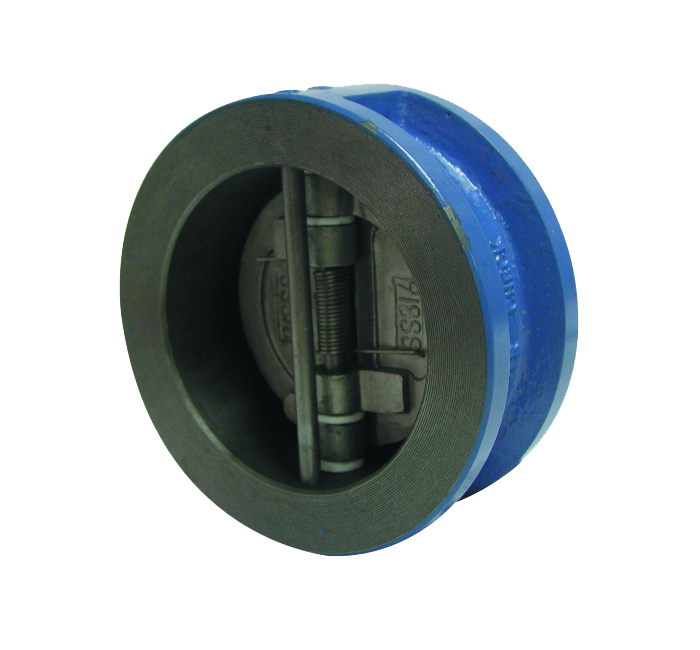 GO Cast Iron Wafer Check Valve Range Dual Disc Table E