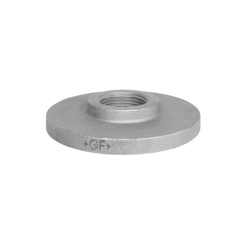 GO Galvanised Malleable Iron Flange Range Scr BSP Undrilled Table D BS EN 10242
