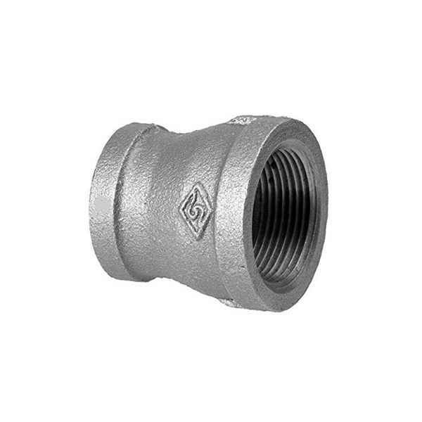 GO Galvanised Malleable Iron Reducing Socket (Coupling) Range Scr BSP BS EN 10242