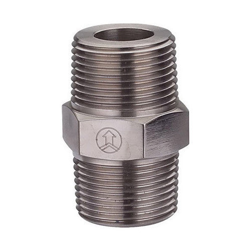 GO Black Steel Hex Nipple Range Scr BSP BS EN 10241