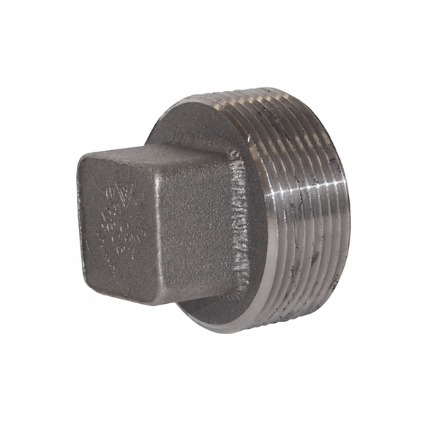 GO Black Steel Square Head Plug Range Scr BSP BS EN 10241