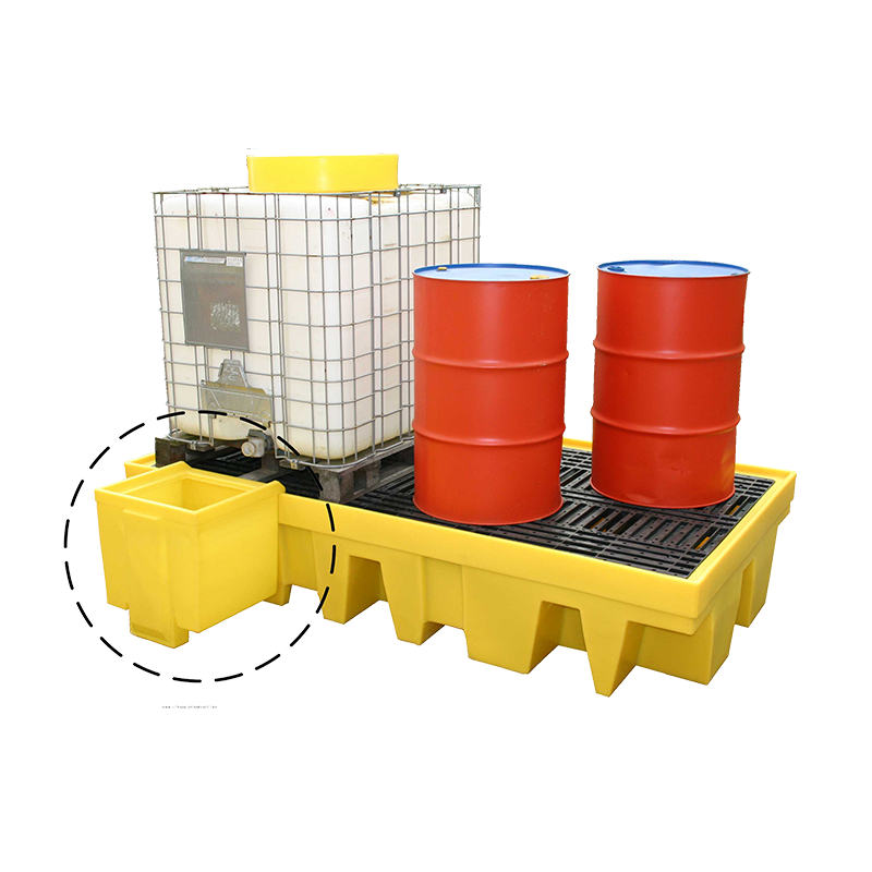 GO Industrial Dispensing Well – Dual IBC Spill Pallet TSSBB2T