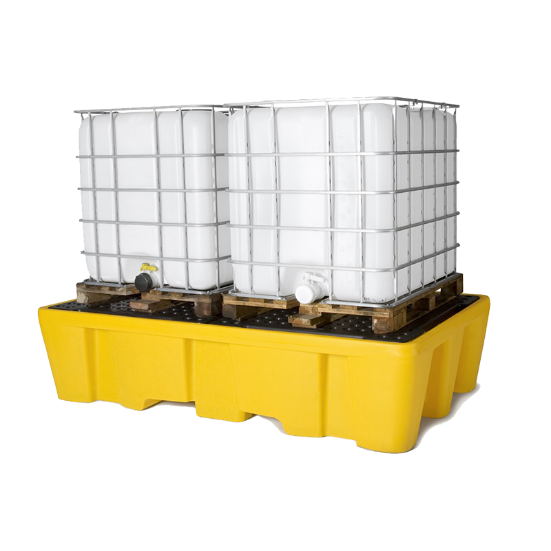 GO Industrial Dual IBC Spill Pallet Bund with Removable Grate TSSBB2