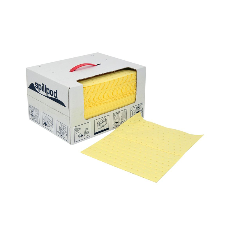 GO Industrial Hazchem Absorbent Pad Dispenser Box Range