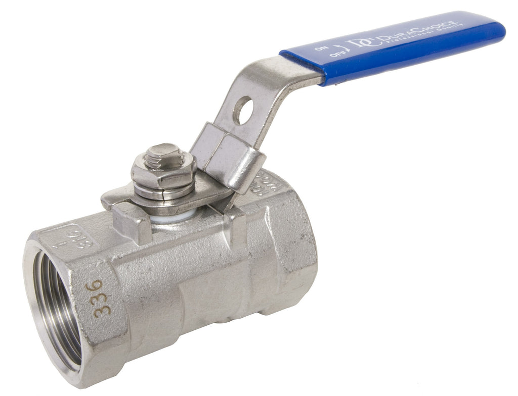 GO Stainless Steel Ball Valve Range One Piece Reduced Bore 316 Scr BSP