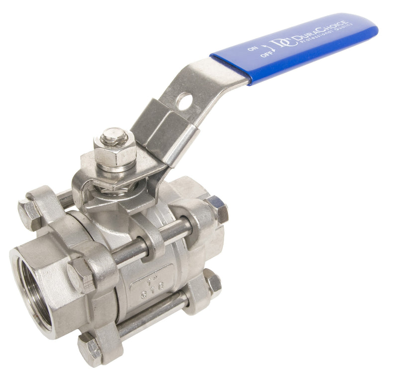 GO Stainless Steel Ball Valve Range Three Piece Full Bore 316 Choice of Connection Options