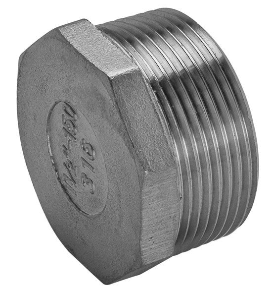 GO Stainless Steel Hex Plug Range 316 150lb Scr BSP ASTM A351-77