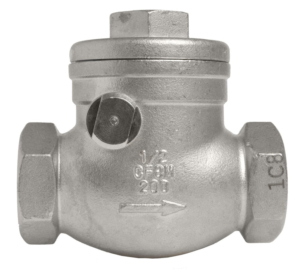 GO Stainless Steel Swing Check Valve Range 316 Scr BSP