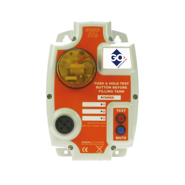 TANK ALARM 240V 3 x Relays, 3 x Float Switches, Xenon Flashing Light, Audible Alarm