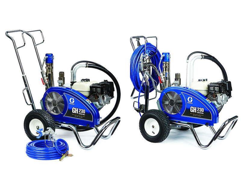 GRACO Airless Paint Spray Package GH 230 Petrol Hydraulic Driven Range