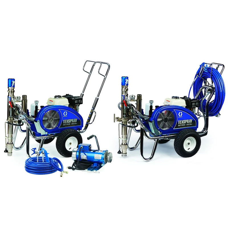 GRACO Airless Petrol Hydraulic Driven Texture Sprayer DutyMax GH 230DI and 300DI Range