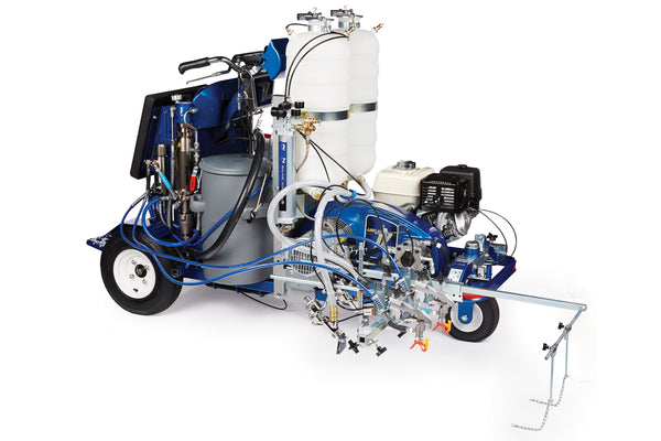 GRACO LineLazer V 250DC Airless Line Marker Dual Colour 17H473 - HP Reflective 2 Paint + Beads Guns 2 Bead Tanks