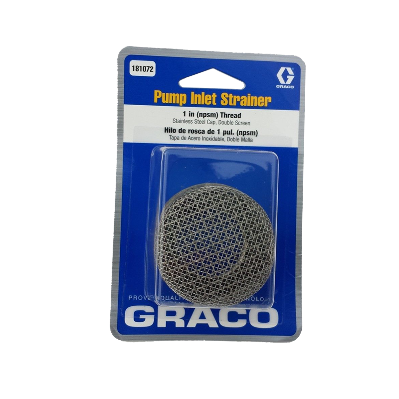 "Graco 181072 Inlet Strainer,1"" 8 Mesh, Ultra(+), Max / EM500"