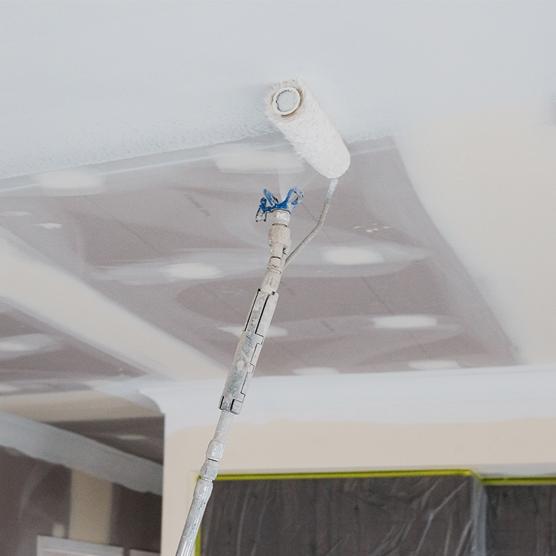 Graco CleanShot Shut-off value spraying ceiling