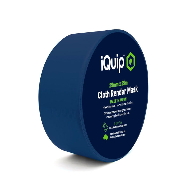 iQuip Japanese Cloth Render Masking Tape - 25mm x 25M Range