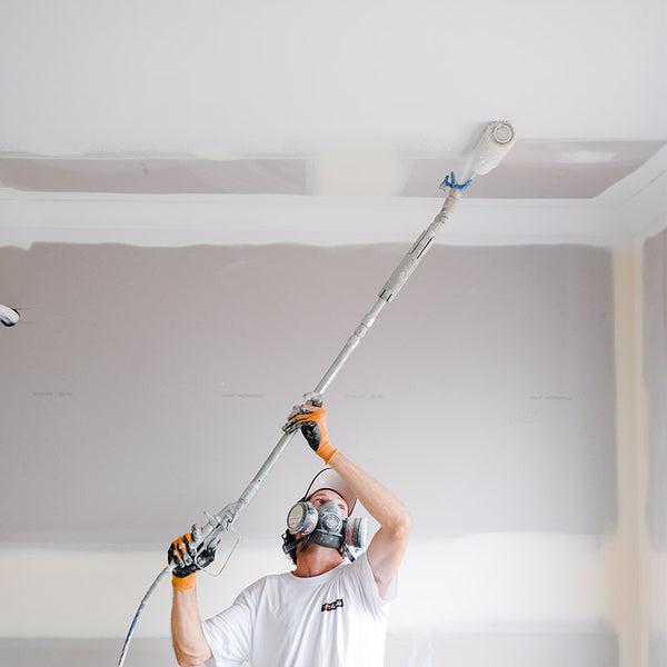 Graco JetRoller Spraying a Ceiling from GO Industrial
