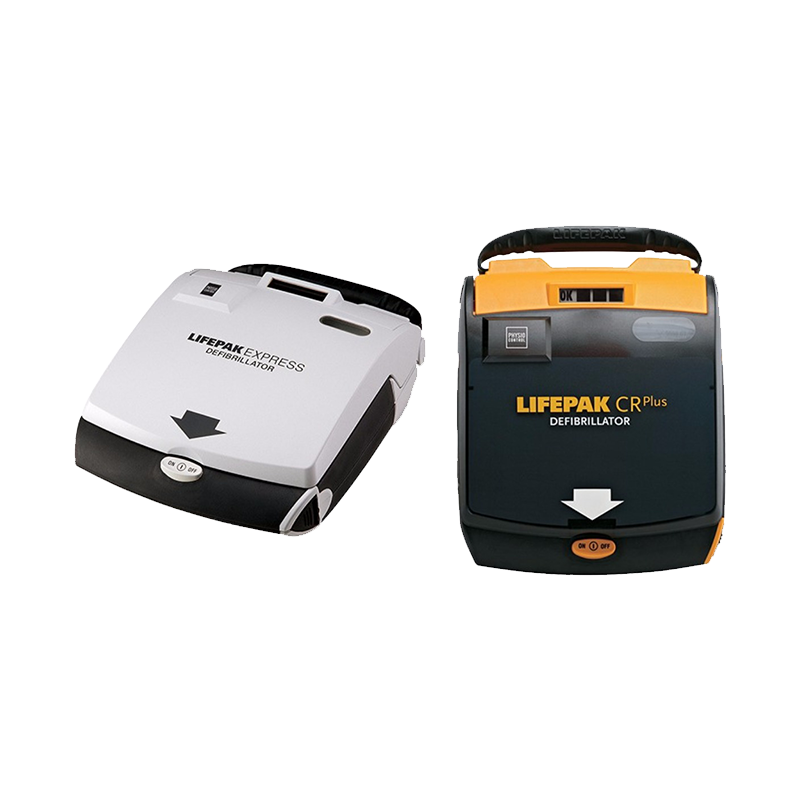LIFEPAK® EXPRESS SEMI AUTOMATIC DEFIBRILLATOR and LIFEPAK® CR PLUS DEFIBRILLATOR