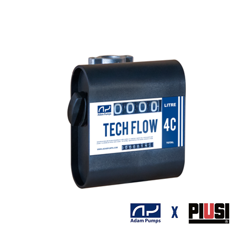 METER TF4S1 4 Digit Mechanical 25mm 20-120lpm Litre Display Adam by Piusi