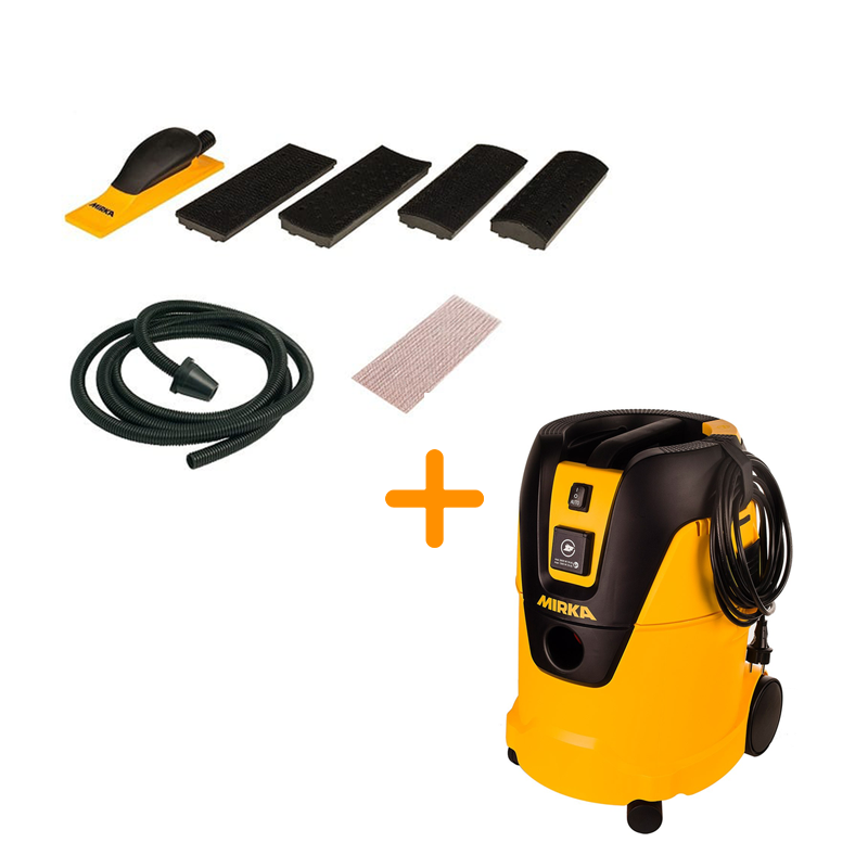 Mirka® GO Kit - Mirka Hand Sander and Extractor Kit