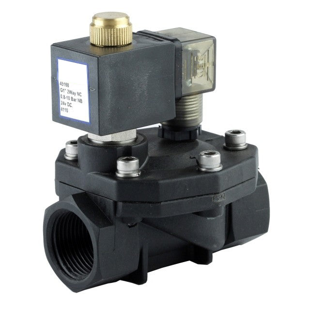 "GO Solenoid Valve 1/2"" to 1 1/2"" P45 Nylon General Purpose Normally Closed Range"