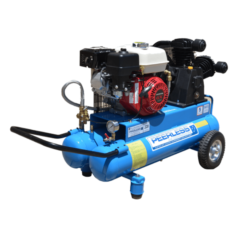 Peerless Air Compressor Petrol Twin Tank PHP15 320LPM 00107