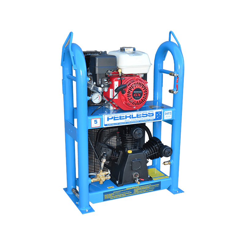 Peerless Air Compressor Petrol Under and Over PHP15 320LPM 00101-UO
