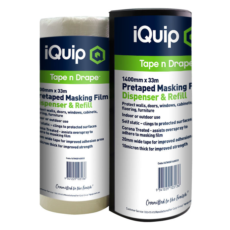 iQuip Pre-taped Masking Film & Dispenser Range
