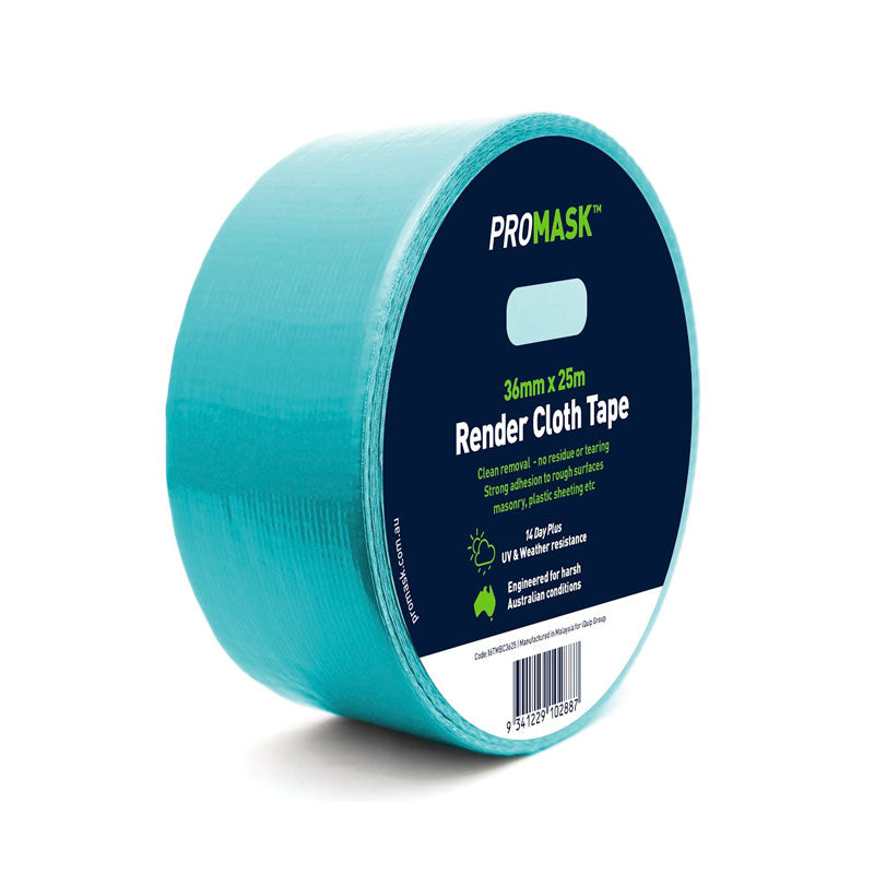 iQuip Cloth Render Masking Tape - 36MM x 25M Range