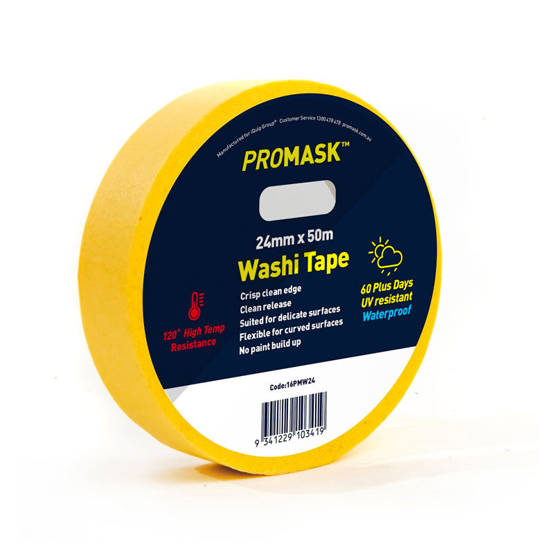 iQuip Promask Washi Tape - 24mm x 50M Range