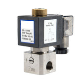 "GO Solenoid Valve 1/4"" S28 304 Stainless 3 Way 2 Position Direct Acting Normally Open"