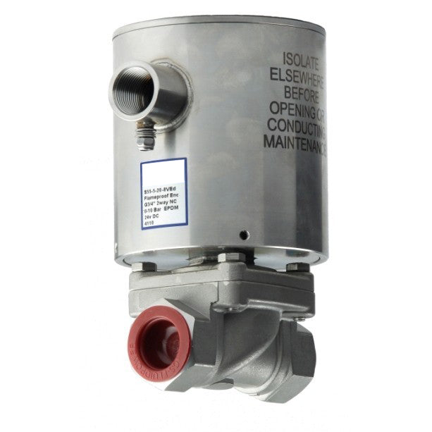 "GO Solenoid Valve 3/8"" to 2"" S55ED 316 Stainless EXD Rated Zero Differential Normally Closed Range"