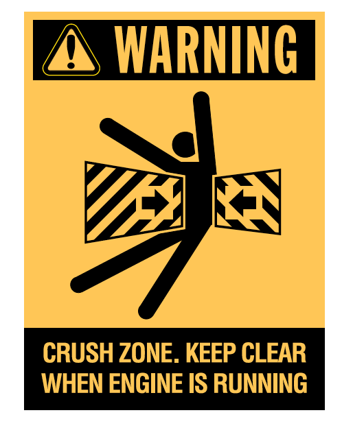 Brady Vehicle and Truck Identification - Warning Crush Zone 836420