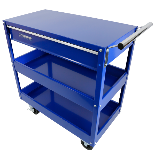 Tradequip Workshop Trolley 2 Trays + 1 Drawer 6012T