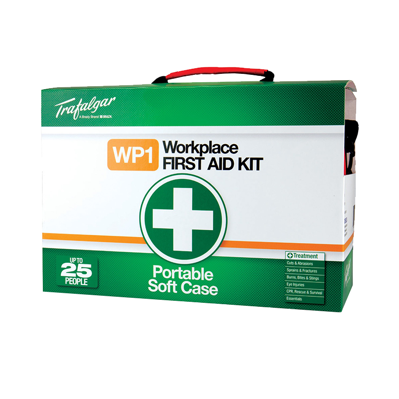Trafalgar Workplace First Aid Kit Portable 876476 Soft Case