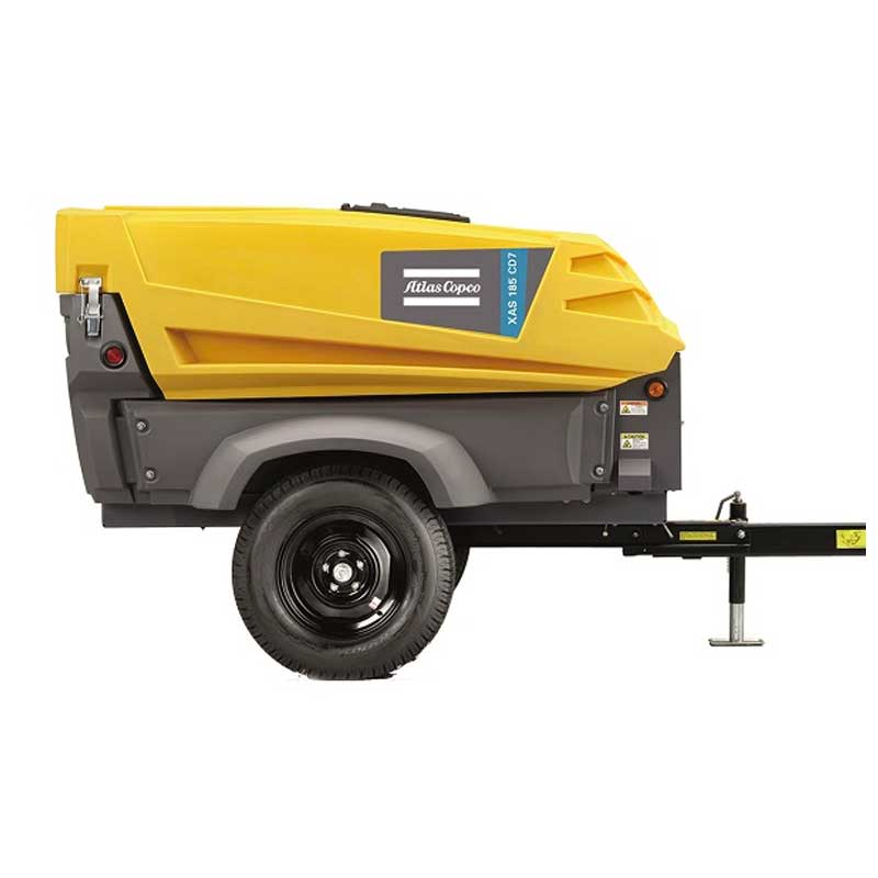 Atlas Copco 2 in 1 Portable Air Compressor & Generator XAS 185 DD7 190CFM