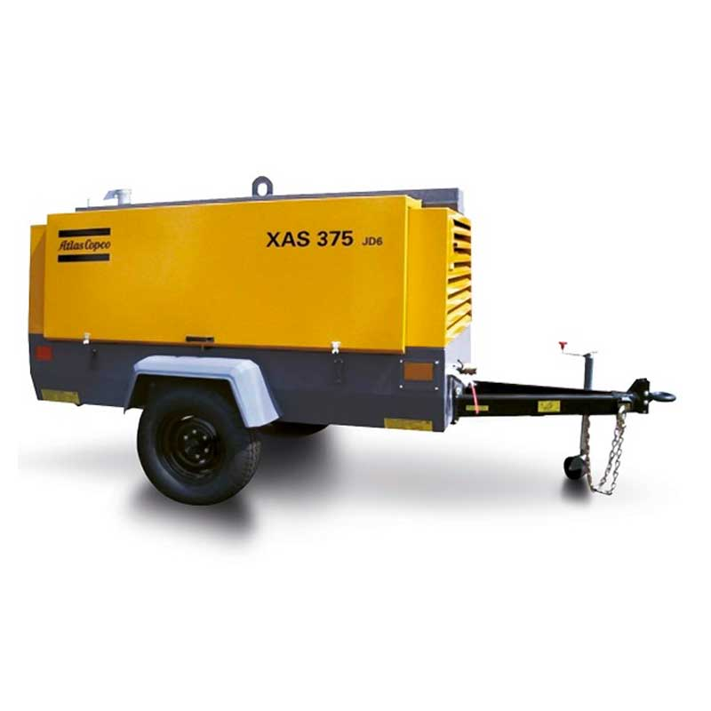 Atlas Copco Air Compressor Portable XAS 375 DD6 392CFM