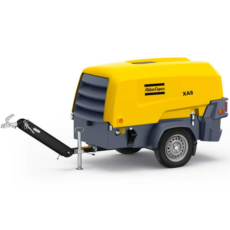 Atlas Copco 2 in 1 Portable Air Compressor & Generator XAS 68 KdG 135CFM