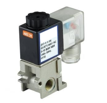 "GO Solenoid Valve 1/8"" (6mm) Z17 3 Way Direct Acting Normally Closed"